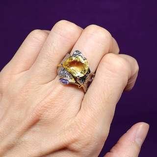 Gemstones ring (Citrine)