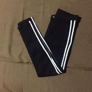 Black Pants with side stripes