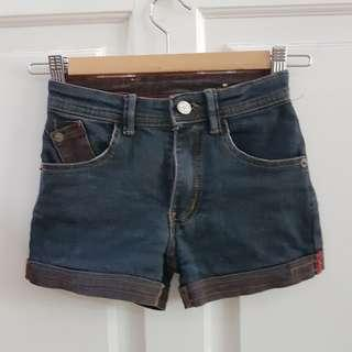 Curly Shorts Jeans Girls