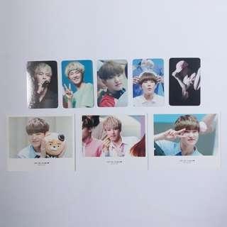 svt hoshi fansite fanpack   polaroids + pcs