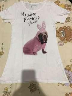 Kaos Zara Putih Basic Tee Shirt