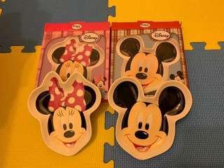 🚚 全新 迪士尼系列造型點心盤(米奇/米妮組)