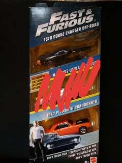 Fast and Furious 1970 Dodge Charger Off Road & Plymouth Roadrunner (Dom's Torque Pack)