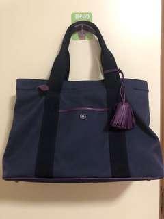 二手 Loewe canvas tote 紫色 7-8成新