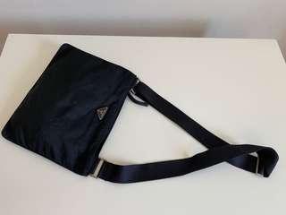 Authentic Prada Tessuto Black Crossbody Sling Bag