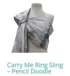 Carry Me Ring Sling - Pencil Doodle