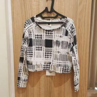 Checkered Black and White Cotton On Longsleeves #onlinesale