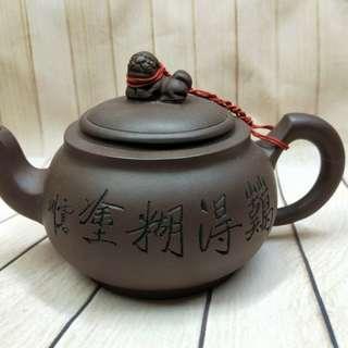 🚚 紫砂壶,早期收藏未使用,约400CC,作者:吴彩平  No:t012
