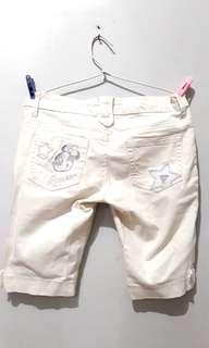 Guess Jeans Minnie Mouse White Woman Pants (Celana Putih Cewek)