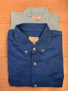 Set of 2 Club Monaco Men's Dress Shirt 長袖恤衫