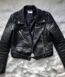UO Pebbled Faux Leather Jacket (XS)