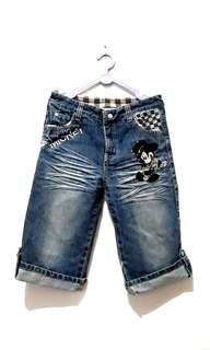Mickey Mouse Jeans Girls Pants (Celana Jeans Anak)