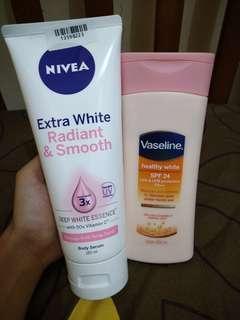 Body Serum Nivea and Body Lotion Vaseline