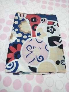 hijab square navy motif