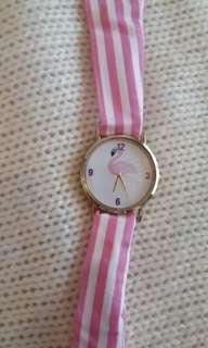 Flamingo watch - strap changeable