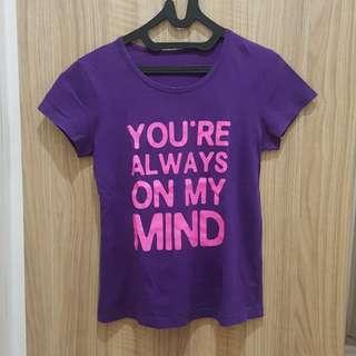 Purple Tshirt Giordano