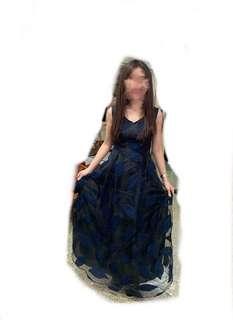 🚚 全新 手工黑色典雅氣質長禮服 (可議價)