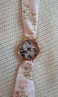 Pink floral watch - strap changeable
