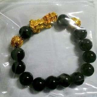 🚚 男生鍍金貔貅12mm手珠