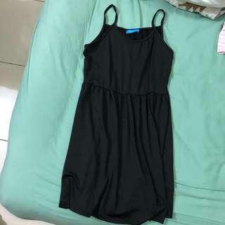 🚚 韓風黑色吊帶裙