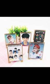 2019 kpop BTS JIMIN JUNGKOOK black pink clneder