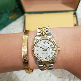Rolex jr size 2tone Mother of pearl dial 1999 model
