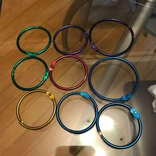 Book Rings 9 Pieces