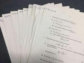 H3 Maths: 2017 JC Prelim Papers