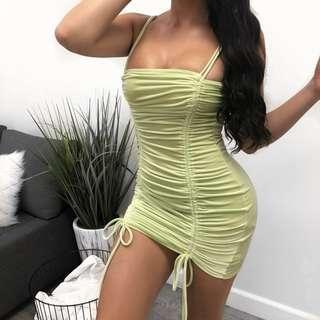 Laura boutique neon green dress