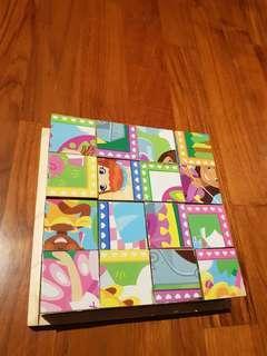 Melissa And Doug Wood Puzzle Cubes