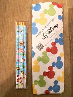 購自日本disney store: toy story鉛筆一套4枝