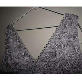 Women's Champagne Detailed Dress XL