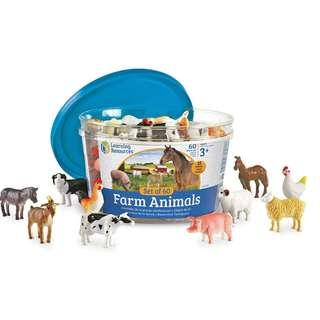 BN: Learning Resources Farm Animals Counters, Set of 60