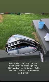 Cobra Golf iron set - one length series purchased in 2018