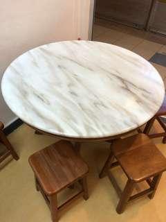 Medium Marble Dining Table
