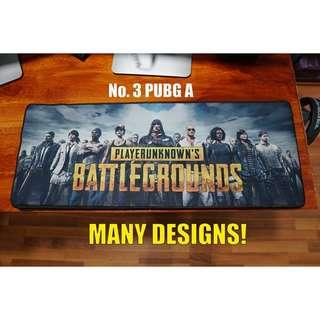 Large Extended Mousepad BLACK ONE PIECE PUBG MAP