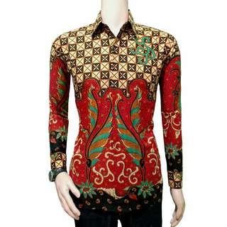 Kemeja Batik Pria Warna merah