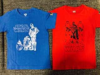 Uniqlo Boys Star Wars T Shirt (Size 120 / 5-7 years)