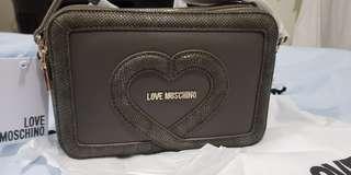 Love moschino greyish snake skin crossbody bag