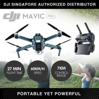 ★DJI SG Authorized Distributor★ DJI Mavic Pro Standard | Fly More Combo★For Export Only