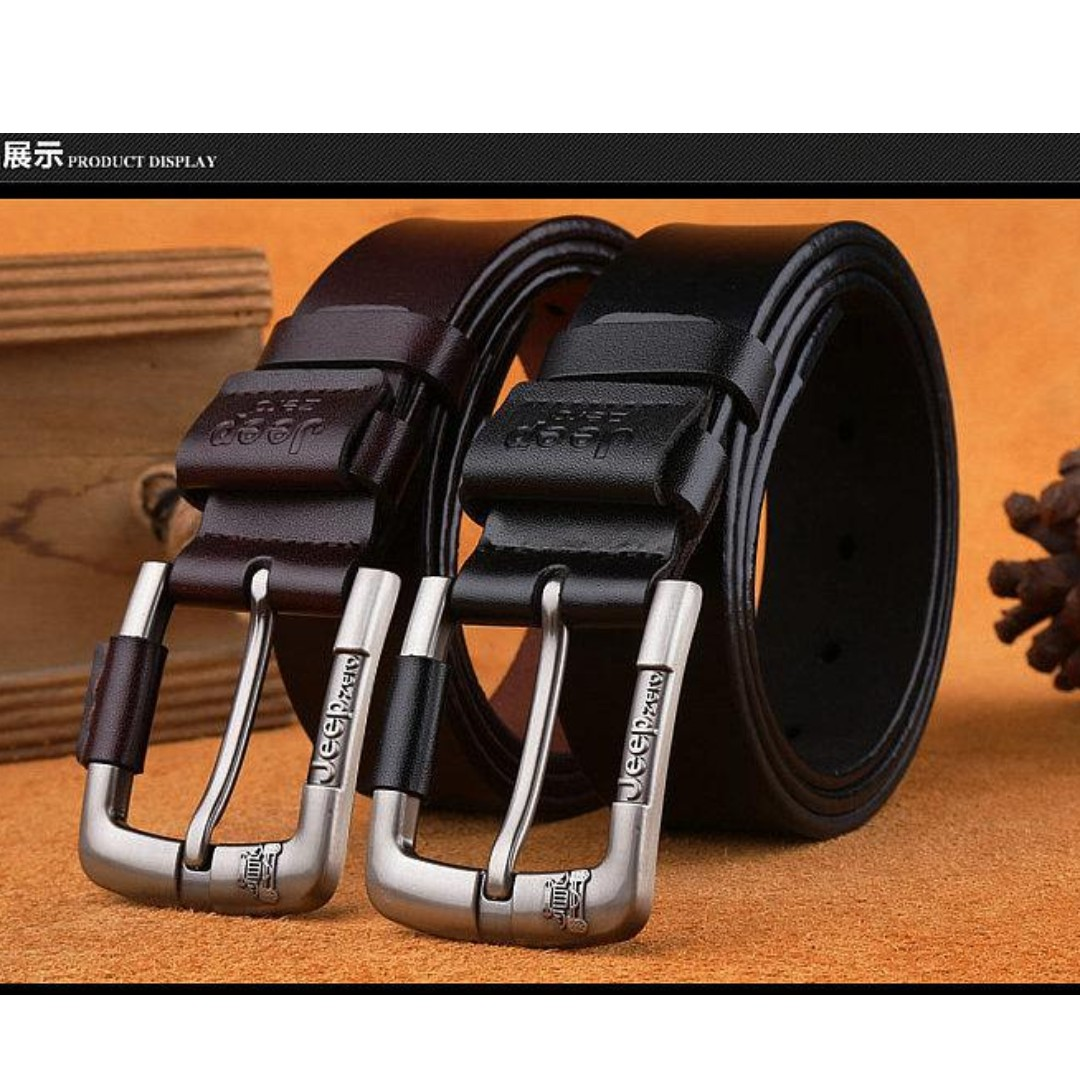 2019 New Fashion Jeep Men S Genuine Leather Buckle Belt For Men