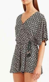 Tigerlily Karezi Playsuit Black