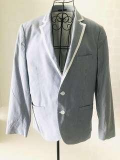 Men's Blue and white strip blazer