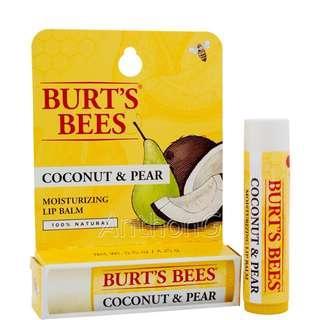 Burt's Bees lipstick (Coconut&Pear)小蜜蜂潤唇膏 椰子梨味