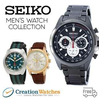 [CreationWatches] Seiko Mens Watch Collection - 100% Authentic
