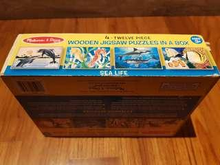Melissa and Doug 4 in 1 puzzles