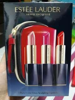 Authentic Estee Lauder travel exclusive 3Pure color envy sculpting lipsticks
