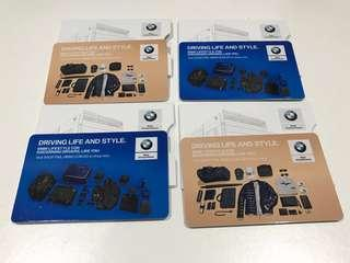 BMW NETS FlashPay EZ-Link Card with BMW Card Slot (2 Different Designs)
