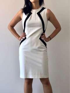 Cue White Work Dress