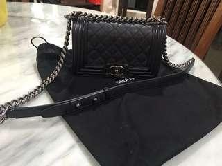 Chanel boy small black with Ruthenium hardware